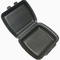 Ланч бокс одноразовый НР-10 черный без делений вспененный полистирол 250 шт 245х150х60