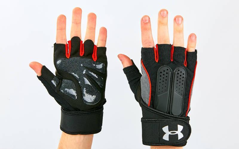 Перчатки для тяжелой атлетики UAR (размер S-XL цвета в ассортименте)