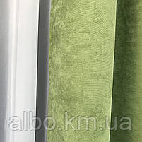 Штори на кільцях для спальні кімнати квартири кухні, портьєри на люверсах в дитячій спальні кухні, штори з мікровелюру для будинку, фото 2