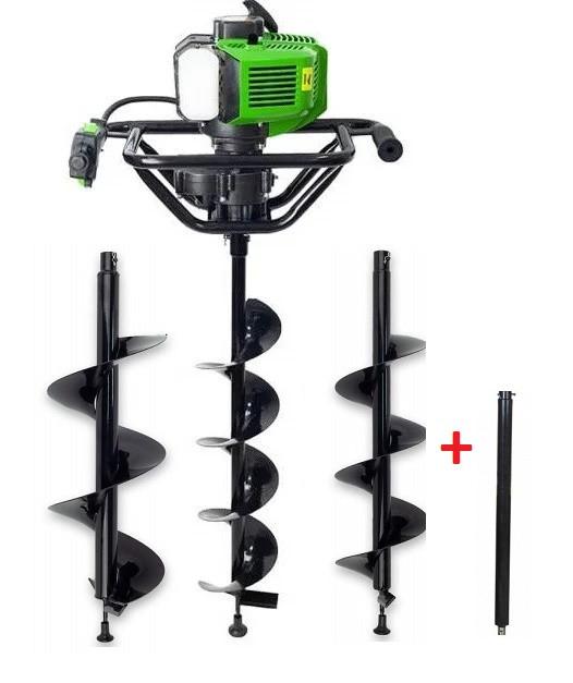 Мотобур Pro-Craft PROFESSIONAL GD62 (в комплекте шнеки 150мм, 200мм и 250мм + удлинитель). Бензобур Про-Крафт