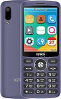 Кнопочный телефон синий с большим экраном и камерой на 2 сим карты Verico Style S283 Blue