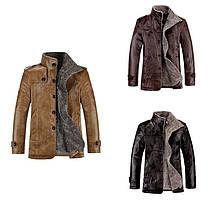 Стильная кожанная утепленная мужская куртка, фото 3