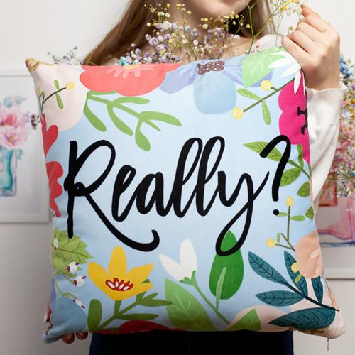 Подушка диванная с бархата Really? 45x45 см (45BP_20F007)