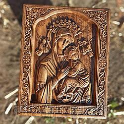 """Икона резная из дерева. """"Страстная Божией матери"""""""