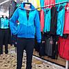 Тёплый женский спортивный костюм FORE  Турция тринитка хлопок 70 брюки прямые капюшон съёмный размеры 2хл 3хл, фото 6