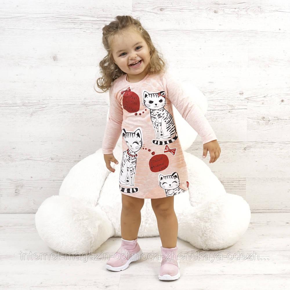 "Милое красивое платье для девочки ""Little kitty"""