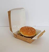 """Упаковка """"Миди"""" для бургеров 110х110х65 мм (Крафт)"""