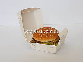 """Упаковка """"Миди"""" для бургеров 110х110х65 мм (Белая), фото 2"""