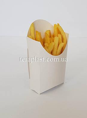 "Упаковка для картофеля фри ""Миди"" 70х140 (Белая), фото 2"