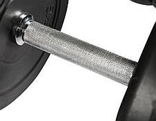Комплект розбірних гантелей, набір гантелей зі змінними дисками 2х15 кг (Металевий Гриф), фото 3