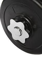 Комплект розбірних гантелей, набір гантелей зі змінними дисками 2х15 кг (Металевий Гриф), фото 2