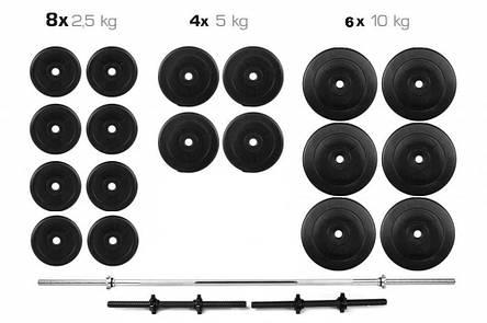 Набір штанга і гантелі, комплект штанга + гантелі набірні, гриф з млинцями набір Premium 110 кг, фото 2