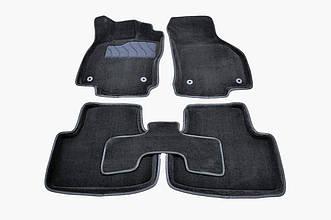 Коврики в салон 3D для Volkswagen Passat B8 2015- /Черные 5шт 88367