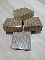 Подставки под чашку, бокал, кружку (костер, бирдекель) деревянная, размер 9х9х0,8 см. (4 шт)