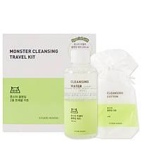 Набор для очищения кожи лица Etude House Monster Cleansing Travel Kit