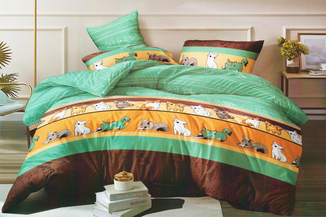 Полуторный комплект постельного белья 150*220 сатин (15601) TM КРИСПОЛ Украина