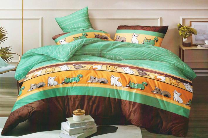 Полуторный комплект постельного белья 150*220 сатин (15601) TM КРИСПОЛ Украина, фото 2