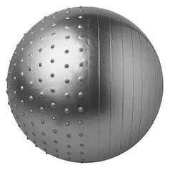 Фітбол масажний комбі 65см сірий KingLion