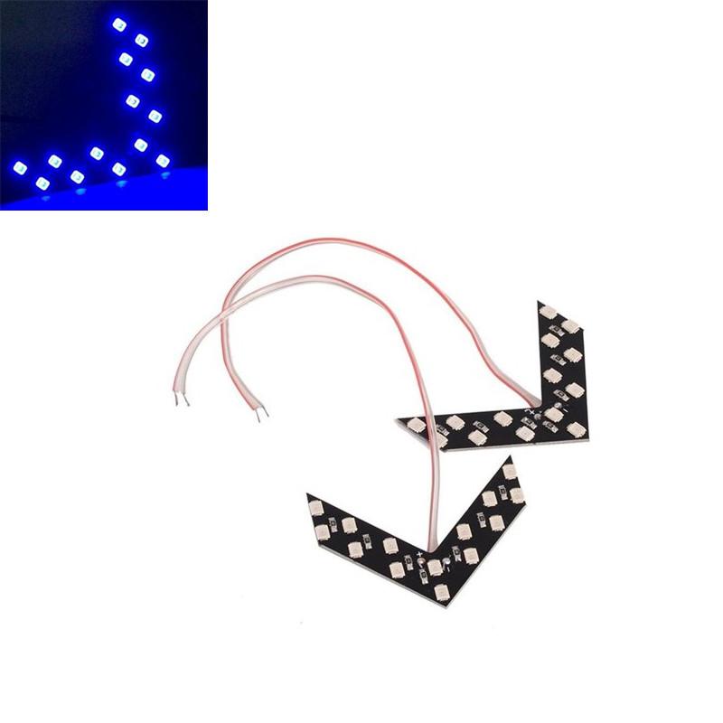 2шт. Cиние LED указатели поворота зеркала заднего вида