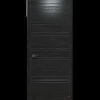 Двери межкомнатные шпонированные Status U-013 дуб мокко