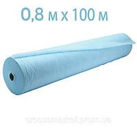 Простынь одноразовая голубая 0,8x100 п.м в рулоне