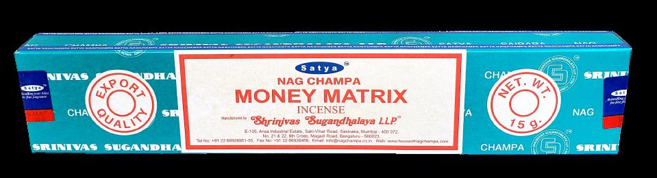 Ароматические палочки Денежная Матрица Money Matrix, Satya Nag Champa