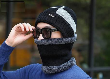 Мужской зимний набор Шапка и шарф, фото 2