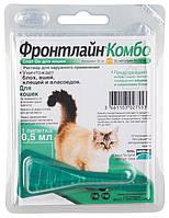 Фронтлайн Комбо краплі від бліх і кліщів для кішок, монопіпетка