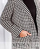 Р. 46-60 Кашемировое пальто женское большого размера гусиная лапка, фото 4