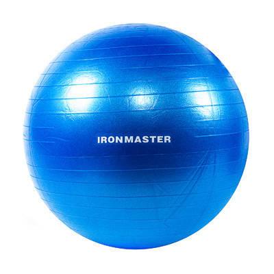 Фітбол гладкий 65см синій IronMaster, (Anti-burst), фото 2