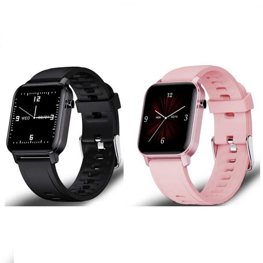 Умные часы Smart Evolution черные / розовые