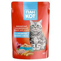 Пан Кот - консерви з рибою в соусі для кішок