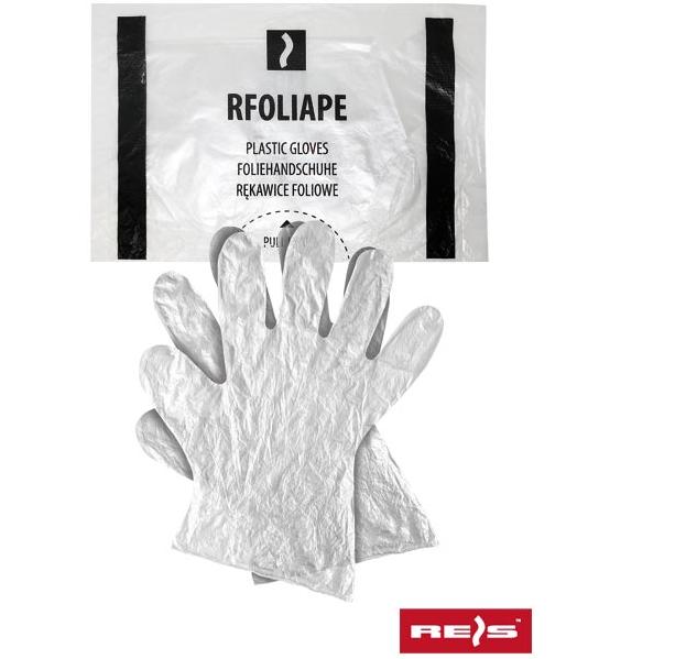 Перчатки полиэтиленовые одноразовые Reis (100 шт/уп) прозрачный