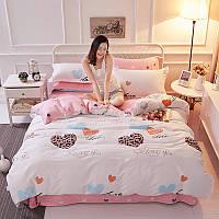 Комплект постельного белья Влюбленные сердца (евро) Berni Home