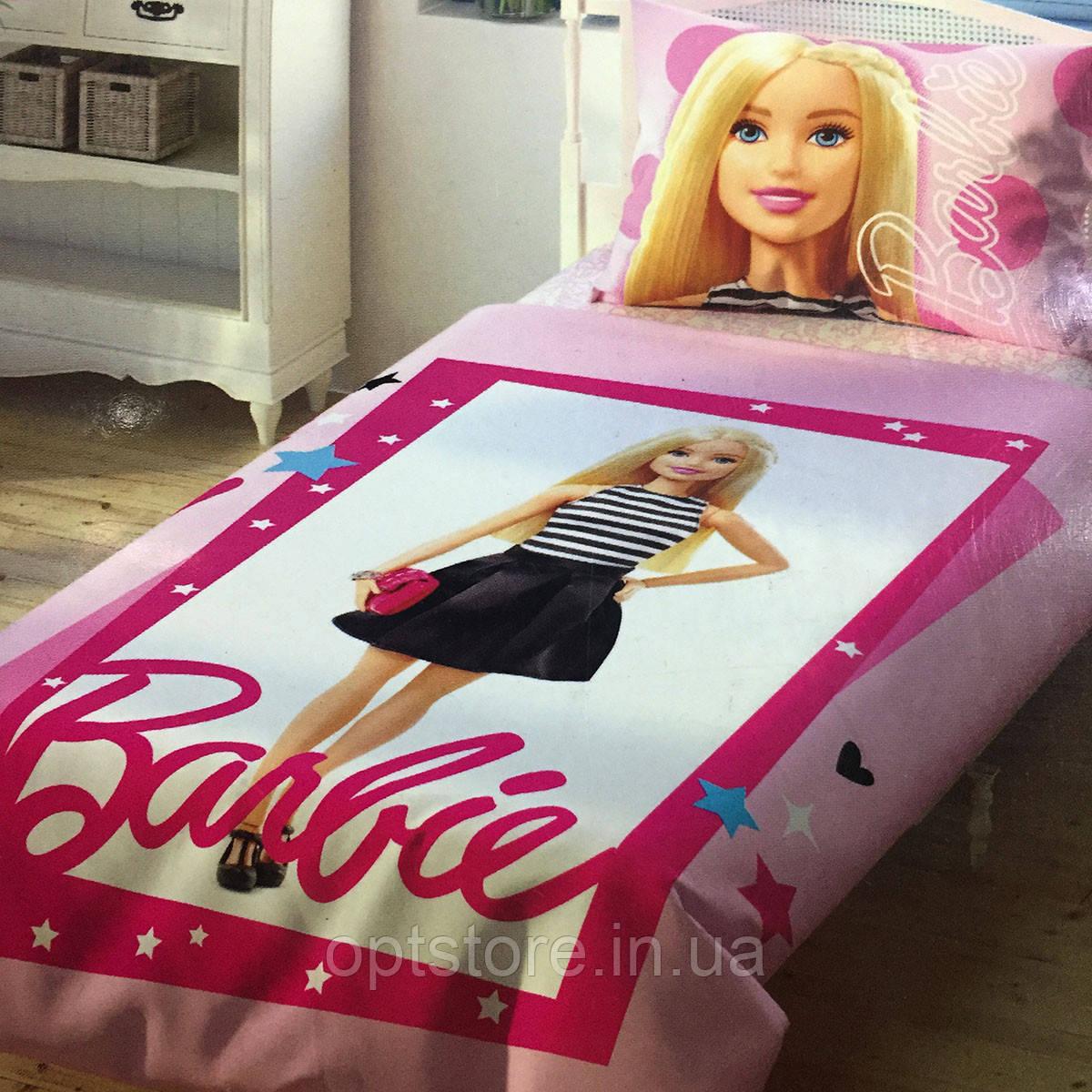 Дитяче та підліткове постільна білизна TAC Barbie ранфорс / простирадло на гумці