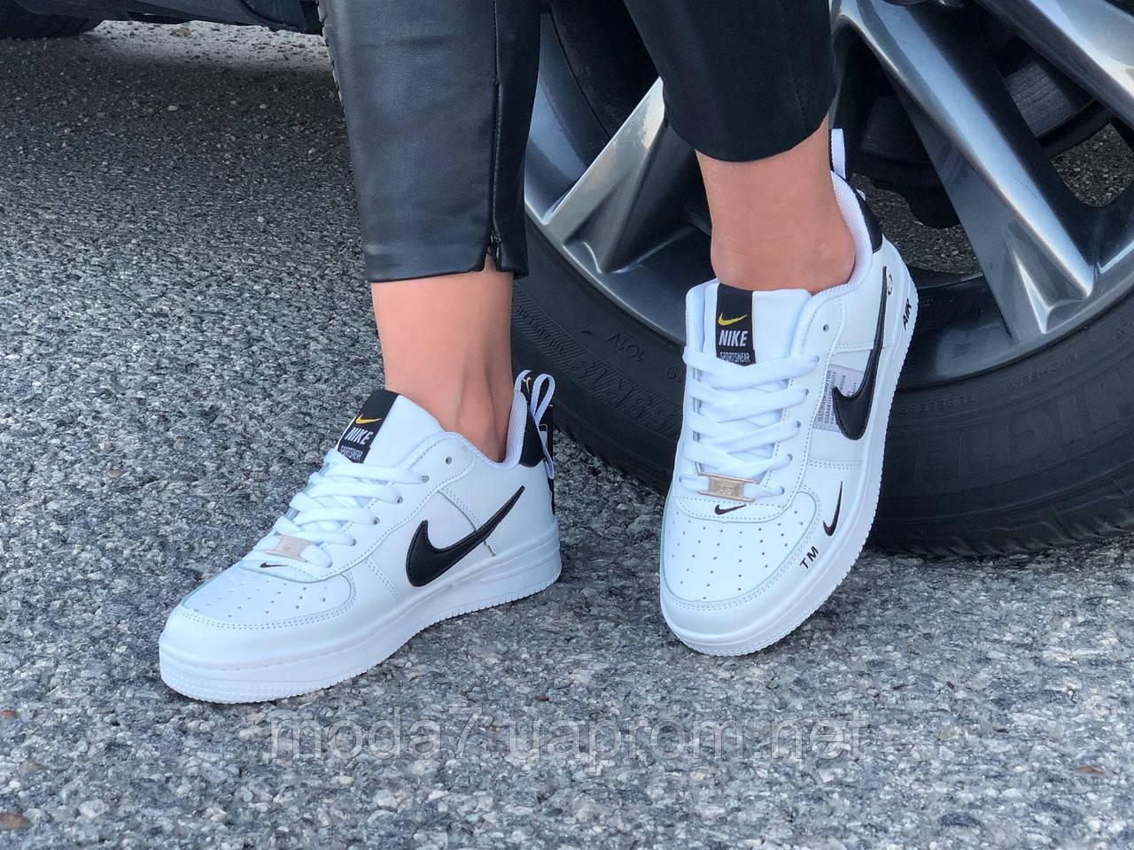 Кроссовки женские подростковые белые Nike Air Force реплика