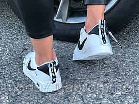 Кроссовки женские подростковые белые Nike Air Force реплика, фото 2
