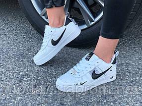 Кроссовки женские подростковые белые Nike Air Force реплика, фото 3