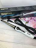 Конусна плойка для волосся Gemei GM 403 плойка для спіральної завивки волосся, фото 9