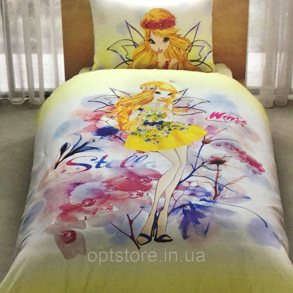Детское и подростковое постельное белье TAC Винкс  ранфорс / простынь на резинке