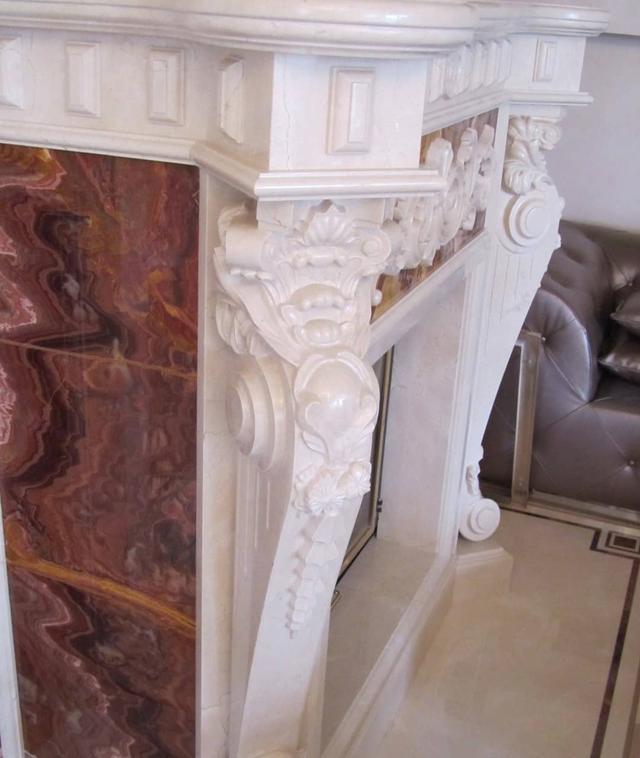 Двухярусный камин из мрамоа
