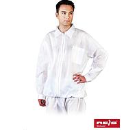 Короткий халат (толстовка) с длинными рукавами на молнии Reis (одноразовый медицинский) BFILS