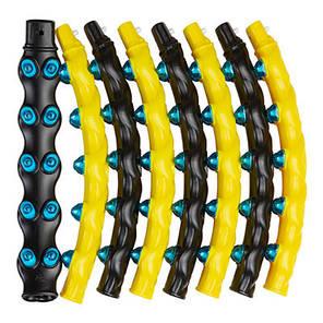Обруч разборной 3005, 2ряда магнитных шариков, желто/черный, фото 2
