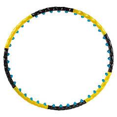 Обруч розбірної 3005, 2ряда магнітних кульок, жовто/чорний