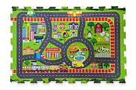 Ігровий Килимок пазли фомовый EVA1907 Дорога 90*60см.