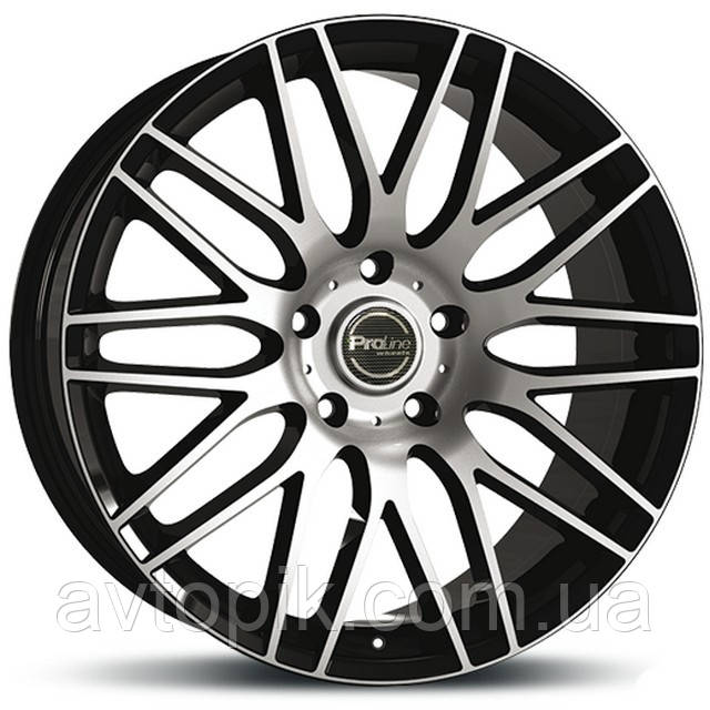 Литые диски ProLine Wheels PXK R20 W9 PCD5x120 ET42 DIA72.6 (black polished)