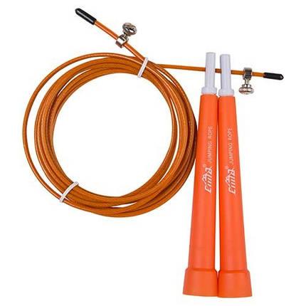Скакалка для кроссфита помаранчева Cima 3м, ручка PVC, фото 2