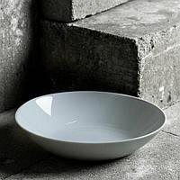 Серая гладкая тарелка для первых блюд Luminarc Diwali Granit 200 мм (P0703)