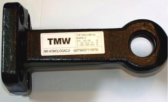 TMW УХО - СЕРЬГА ФАРКОПА 40mm ПАЛЕЦ НА 8 БОЛТОВ /WT/