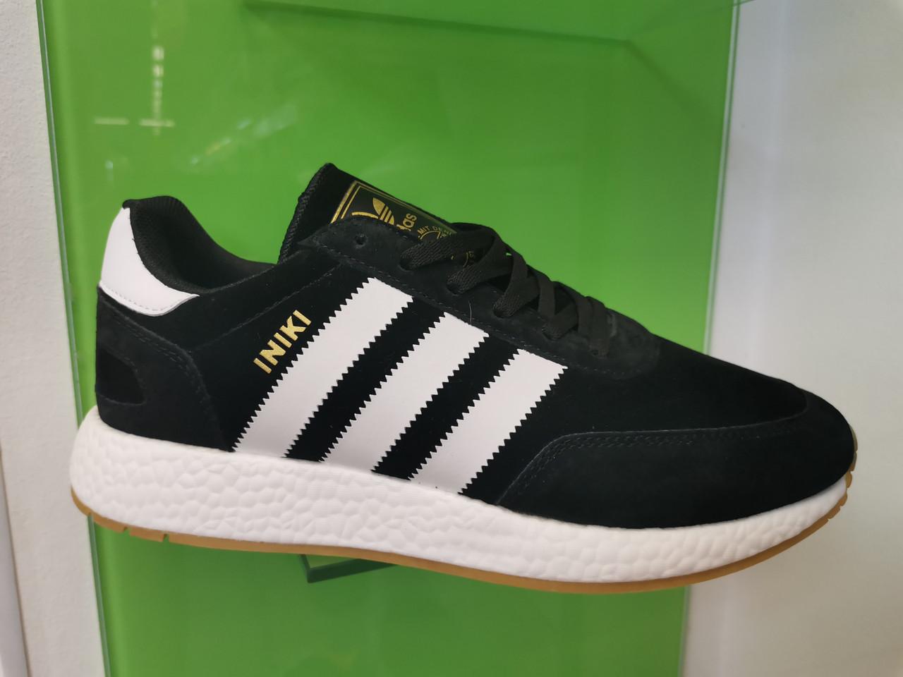 Чоловічі кросівки adidas lniki runner black замшеві